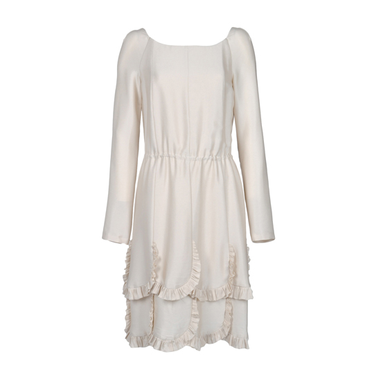 Rochas Frilled Hemine Dress, $1,605