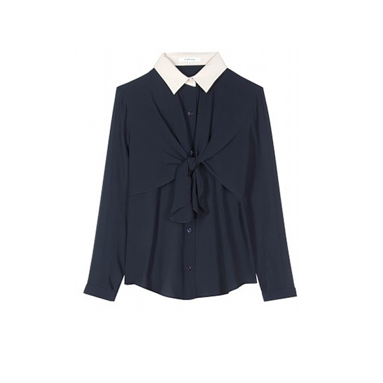 Carven Silk Blouse, $355
