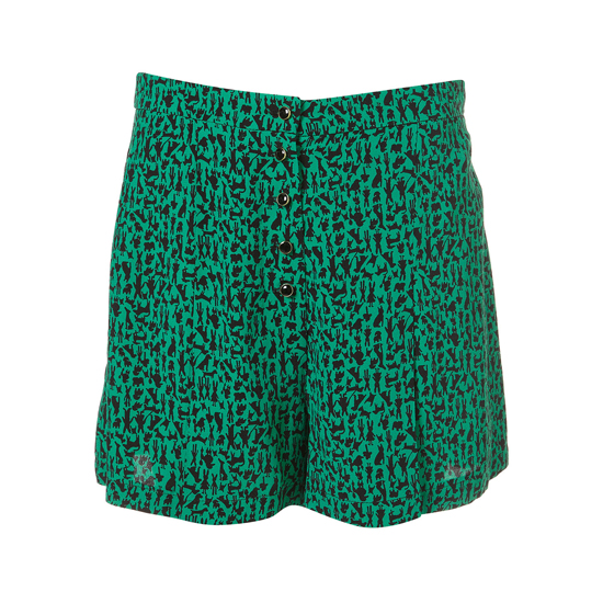 Topshop Jade Animal Print Shorts, $70