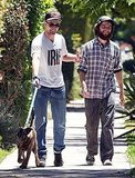 Robert Pattinson and Tom Sturridge go casual.