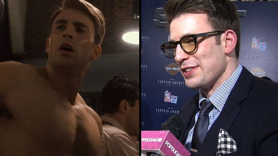 Video: Chris Evans Lets His Geeky Side Show at the Captain America Premiere!