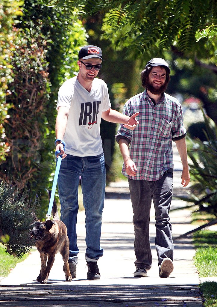 Robert Pattinson and Tom Sturridge hanging out.