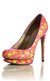 Acid Lace Platform Pump, $860