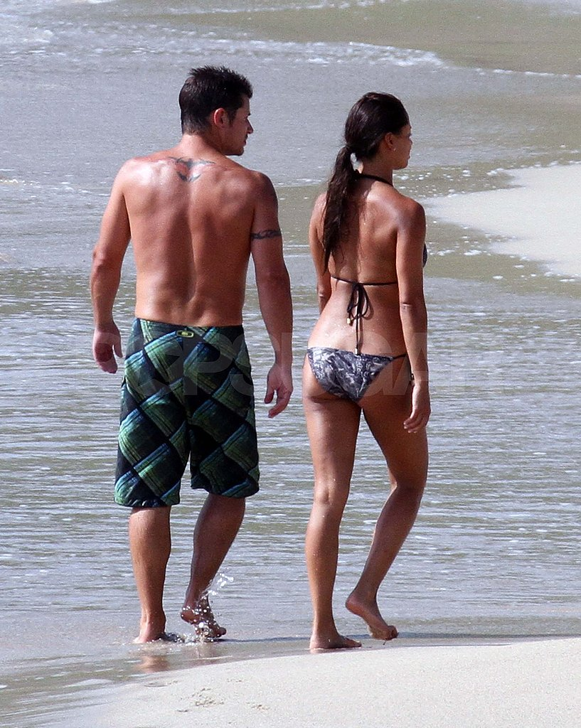 Nick Lachey and Vanessa Minnillo on their honeymoon.