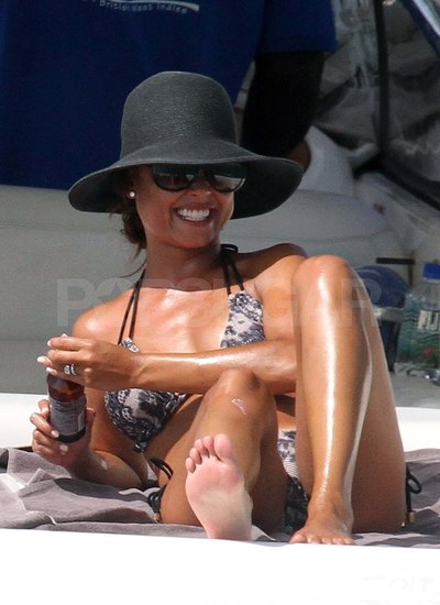 Vanessa Minnillo in a bikini on her honeymoon.