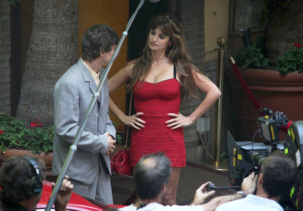 Penelope Cruz shot a scene with a costar.