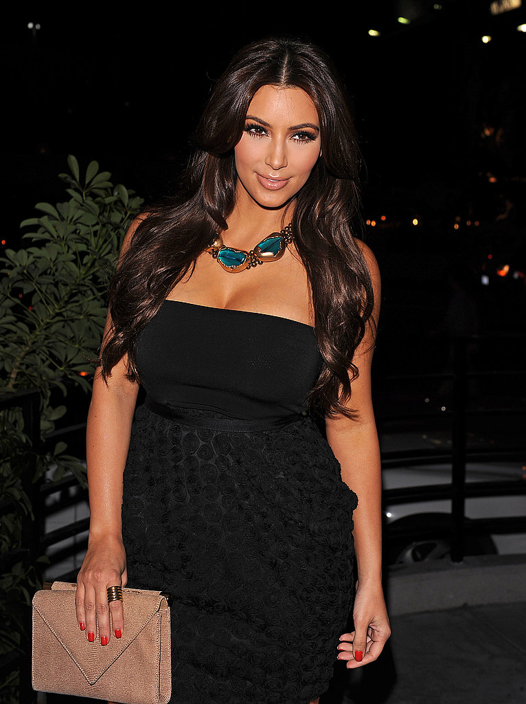 Kim Kardashian wore a LBD last night.