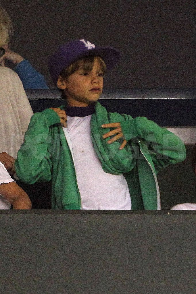 Romeo Beckham watches his dad David Beckham play with the LA Galaxy.