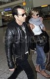 Jennifer Aniston and Justin Theroux at Heathrow.