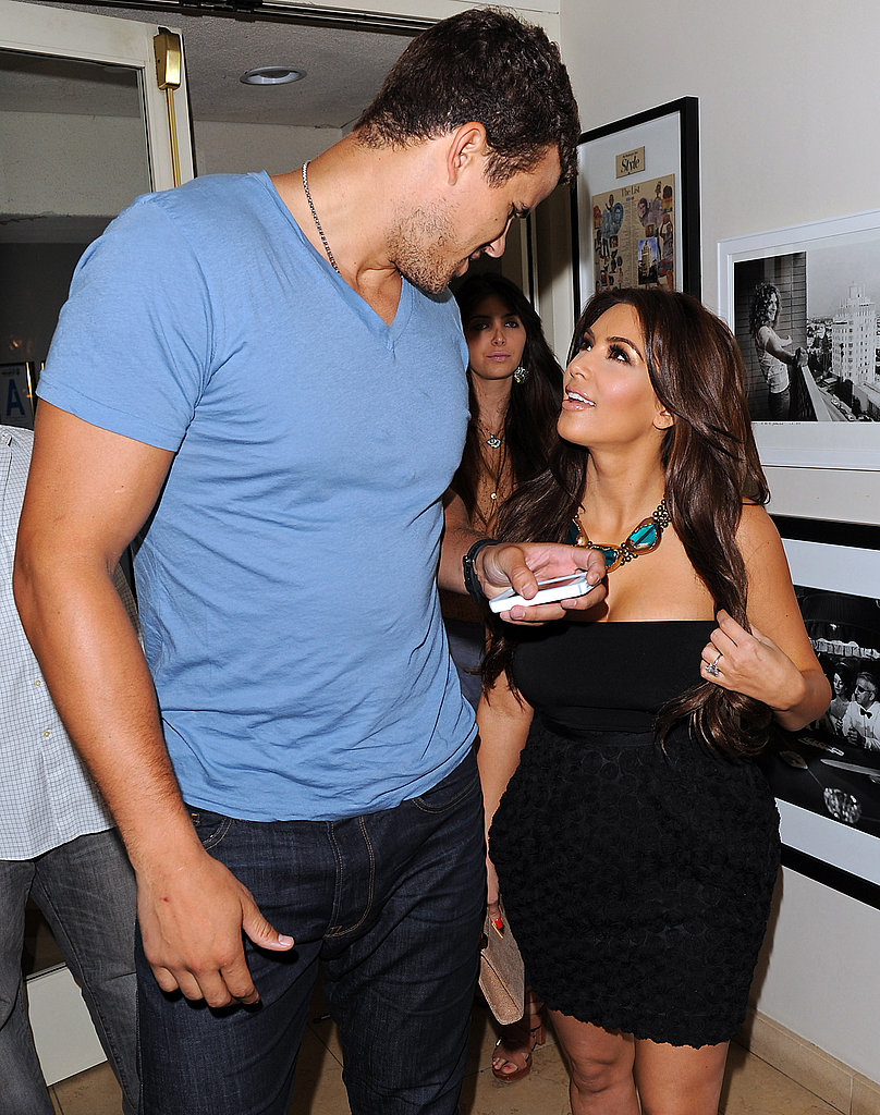 Kim Kardashian and Kris Humphries shared a sweet moment.