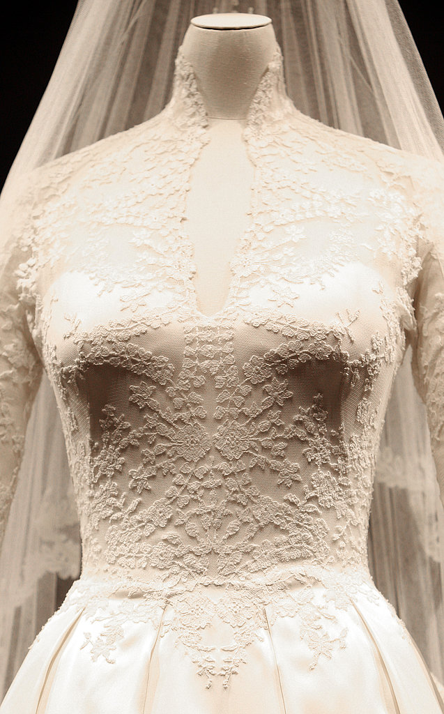 Kate Middleton's Wedding Dress Goes on Display; See the Gown Details Up Close