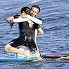 David Beckham Pictures Bodysurfing With Brooklyn Beckham