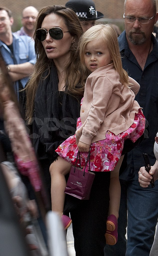 Vivienne Jolie-Pitt in London with Angelina.