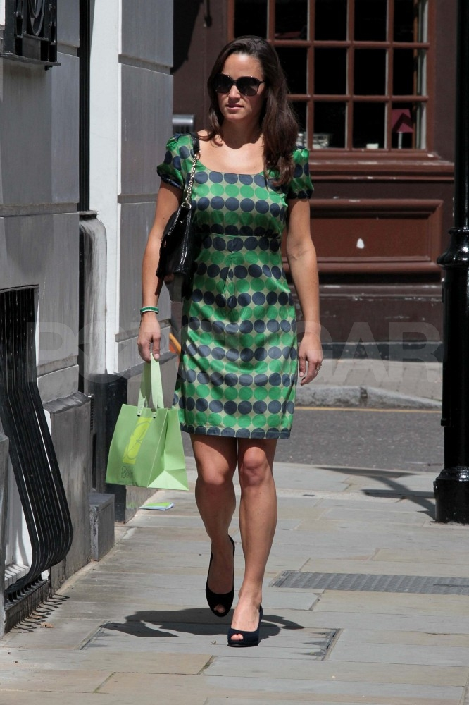 Pippa Middleton commutes in London.