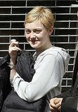 Dakota Fanning hung out on set.
