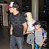Ryan, Ava, and Deacon Phillippe Flying Out of LAX Pictures