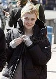 Dakota Fanning flashed a smile.