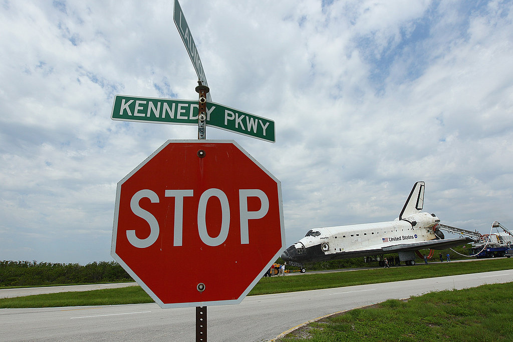 Space Shuttle Atlantis Touches Down