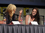 Charlize Theron and Kristen Stewart had a good time during the Snow White and the Huntsman discussion today at Comic-Con.