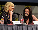 Charlize Theron and Kristen Stewart had a good time during the Snow White and the Hunstman discussion today at Comic-Con.