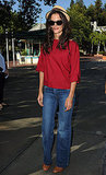 Katie Holmes at Six Flags on National Dance Day.