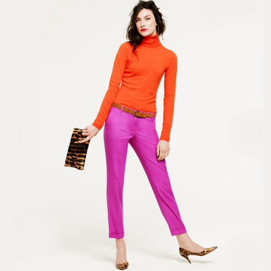 J.Crew's take on the trend: blood orange and fuschia for pre-Fall 2011.
