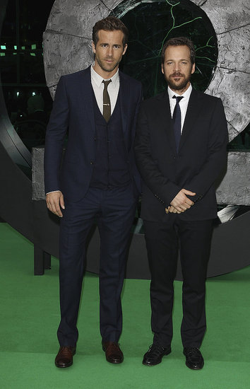 Green Lantern Stars Ryan Reynolds and Peter Sarsgaard Say Guten Tag to Germany