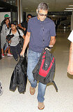 George Clooney at the airport.