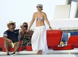 Jennifer Lopez lets loose in a bikini.