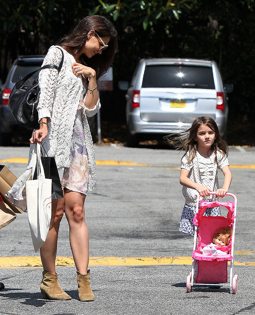 Katie and Suri Shop LA as Tom Sort of Wraps Things Up in Hollywood, FL