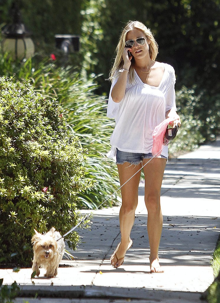 Kristin Cavallari walked her dog.