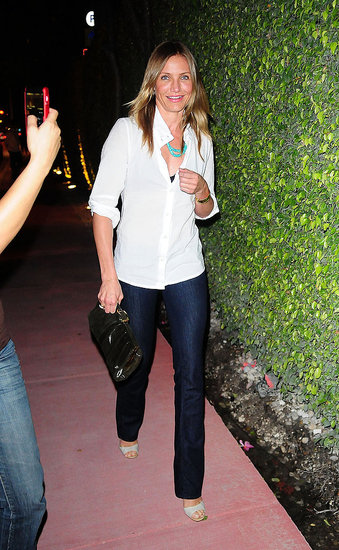 Cameron Diaz spotted leaving Casa Tua restaurant in Miami Beach on Saturday.