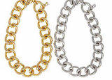 Goldtone or Silvertone Chain Link Necklace, $175 each
