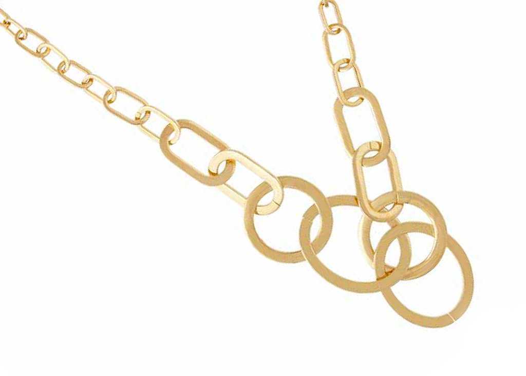 Goldtone Ring Link Necklace, $395