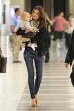 Miranda Kerr and Flynn Bloom at the airport.