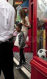 Angelina Jolie in Richmond with Zahara Jolie-Pitt and Shiloh Jolie-Pitt.