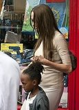 Angelina Jolie and daughter Zahara Jolie Pitt shop in London.