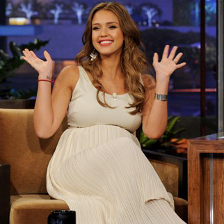 Jessica Alba Talks About Pregnant Sex on The Tonight Show With Jay Leno