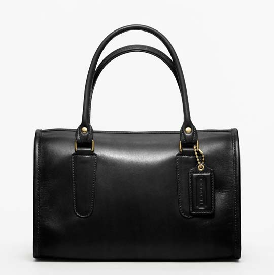 Coach Classic Leather Madison Satchel in Black, $358