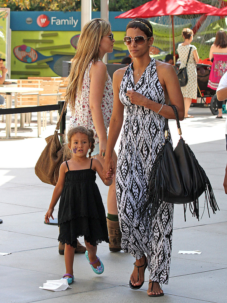 Halle Berry and Nahla Aubry spent the afternoon at the Century City mall.