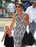 Halle Berry held hands with Nahla Aubry.