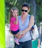 Jennifer Garner goes to a museum with her kids.