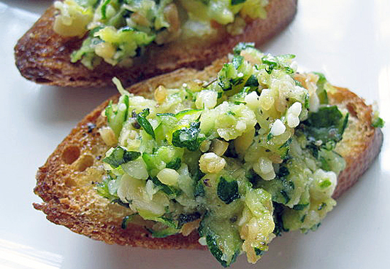 What to Make: Zucchini Crostini