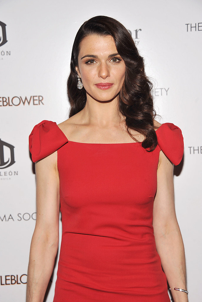 Rachel Weisz with curly hair.
