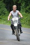 Ryan Gosling on the set of The Place Beyond the Pines.