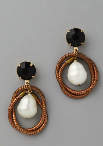 Lulu Frost Knot Teardrop Earrings ($156)