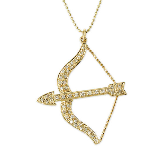 Sydney Evan Diamond Bow & Arrow Necklace, $995