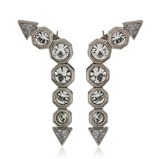 House of Harlow 1960 Palladium Drop Earrings, $25