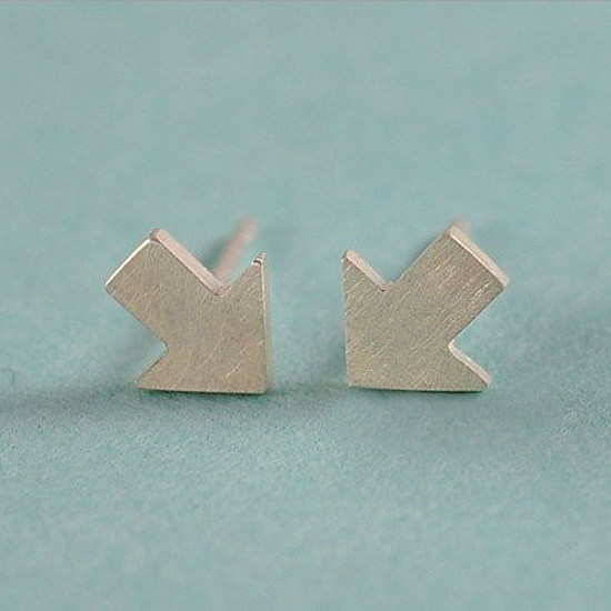 MXM Jewelry Tiny Arrow Earrings, $24