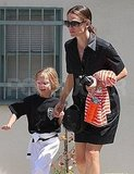Jennifer Garner and Violet Affleck gong to karate.